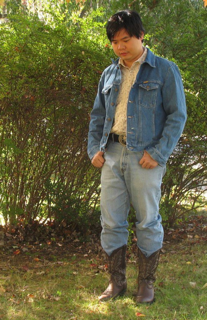 custom apparel, jean jacket